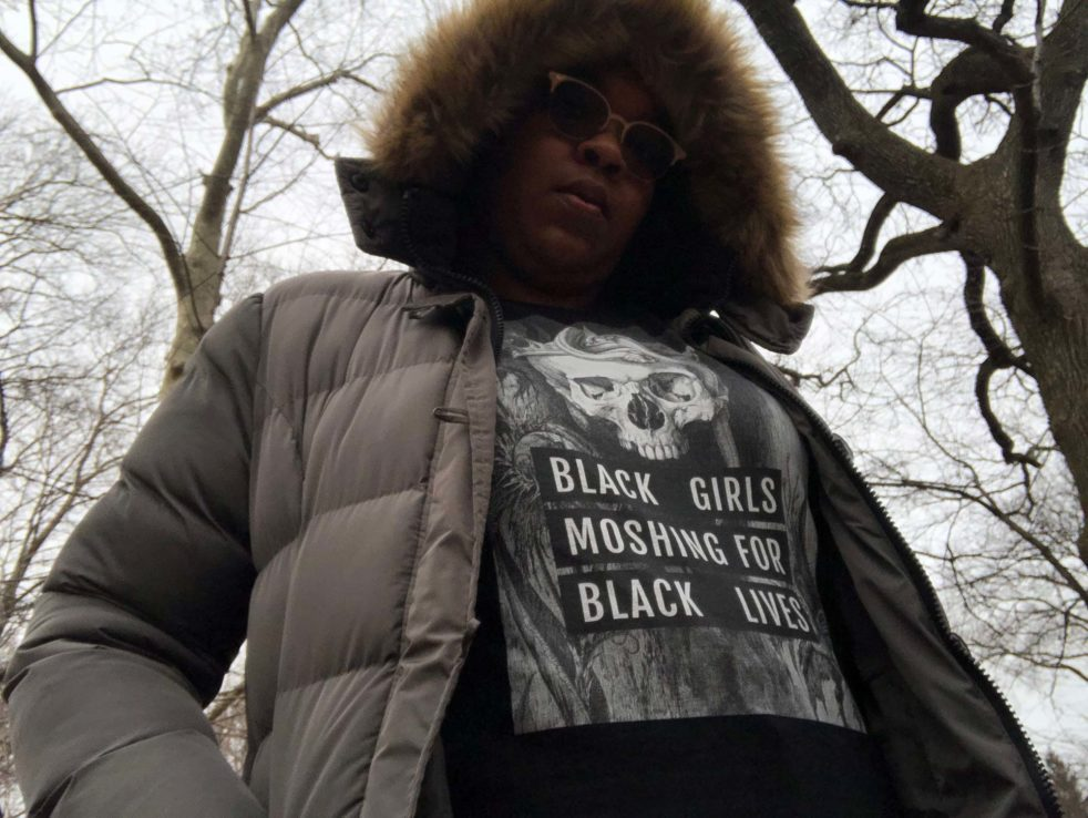 #Blkgrlswurld is a press in Harlem that celebrates and documents women of color who participate in heavy music genres like Metalcore, Hardcore, Punk, and Black Metal. #Blkgrlswurld was founded by Christina Long and her sister, Courtney Long, in 2013. Photo credit: #Blkgrlswurld ZINE.
