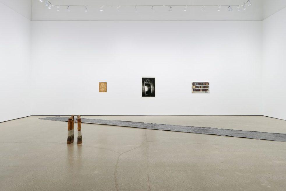 A faraway shot of Yamaoka, Leonard, Episalla, Broday's exhibition.