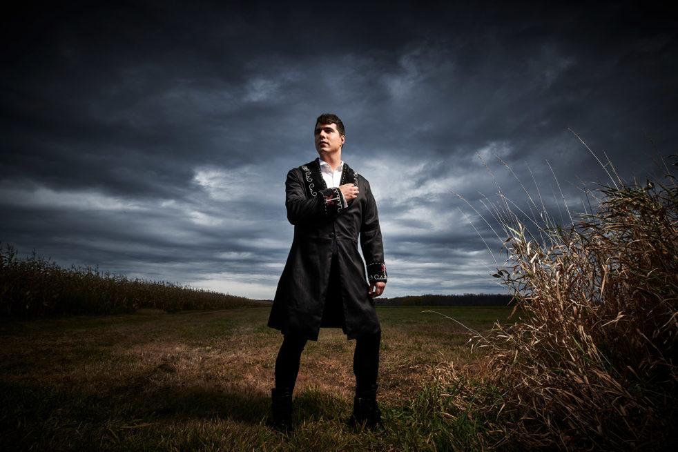A photograph of the artist Jeremy Dutcher.