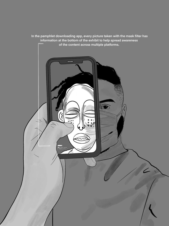 Concept illustration ofThe Masks We Wear