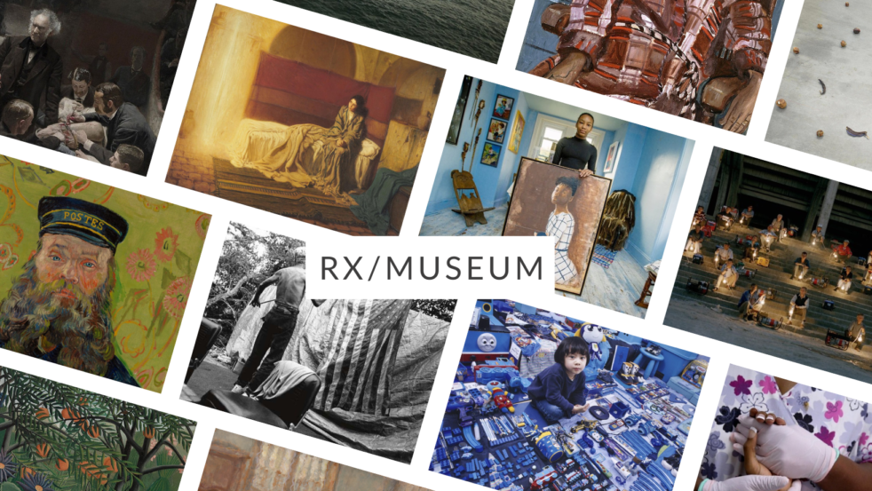 Collage of artworks from the RX/Museum
