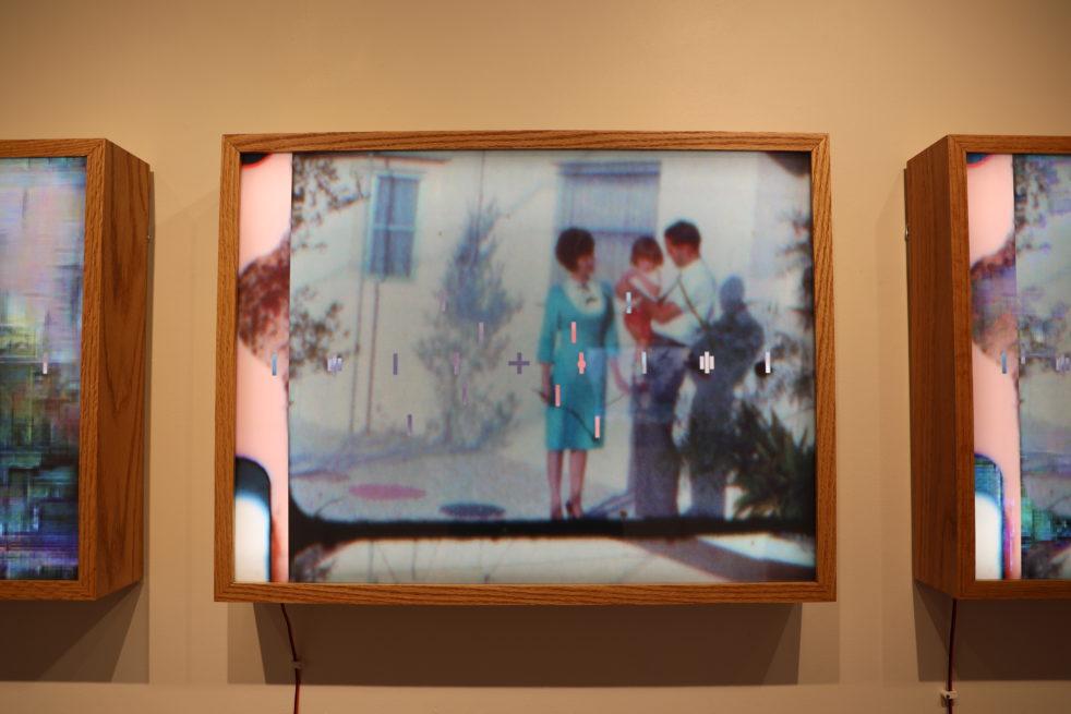 reverse-lit Kodak film installed in custom made wooden lightbox