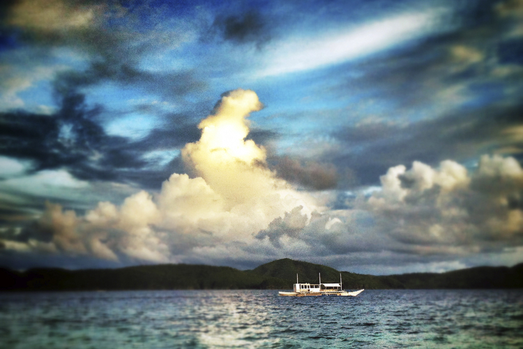 Fishing boat photographed in Palawan, Philippines