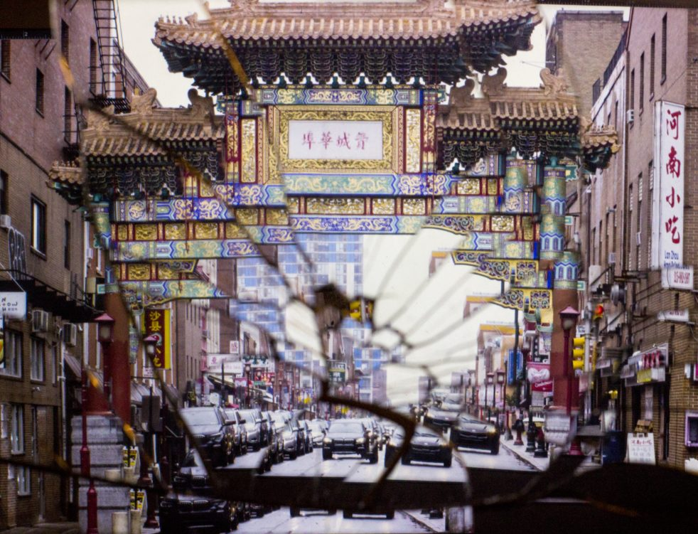 Photograph of a gate in Chine Town